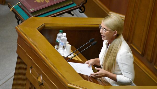Liderka partii Batkiwszczyna Julia Tymoszenko  - Sputnik Polska