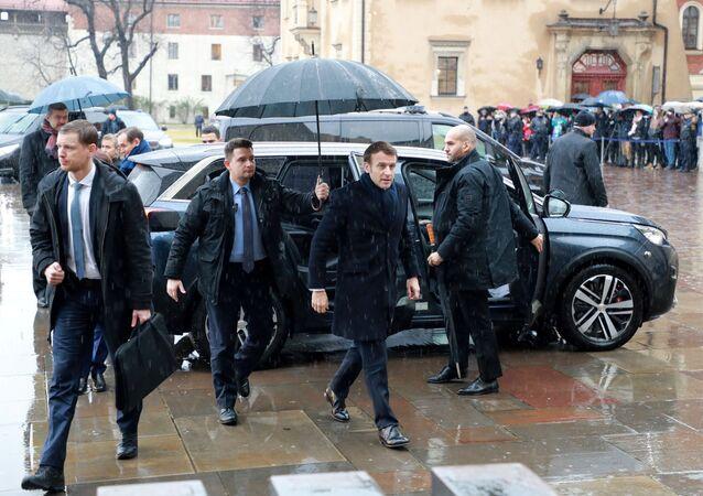 Wizyta prezydenta francji w Krakowie