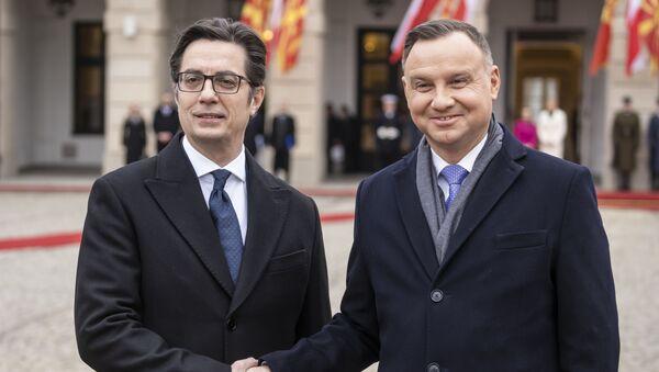 Prezydent Macedonii Północnej z wizytą w Polsce - Sputnik Polska