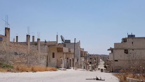 Syryjskie miasto Chan Szajchun w prowincji Idlib po wyzwoleniu przez armię rządową - Sputnik Polska