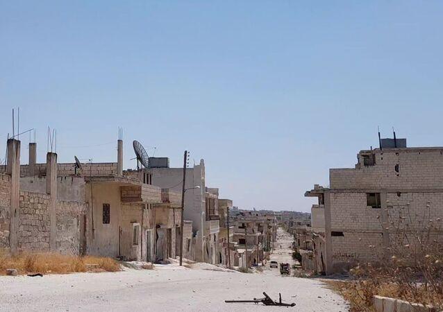 Syryjskie miasto Chan Szajchun w prowincji Idlib po wyzwoleniu przez armię rządową