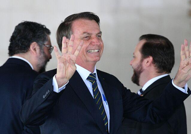 Prezydent Brazylii Jair Bolsonaro na szczycie państw BRICS