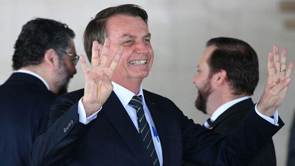 Prezydent Brazylii Jair Bolsonaro na szczycie państw BRICS - Sputnik Polska