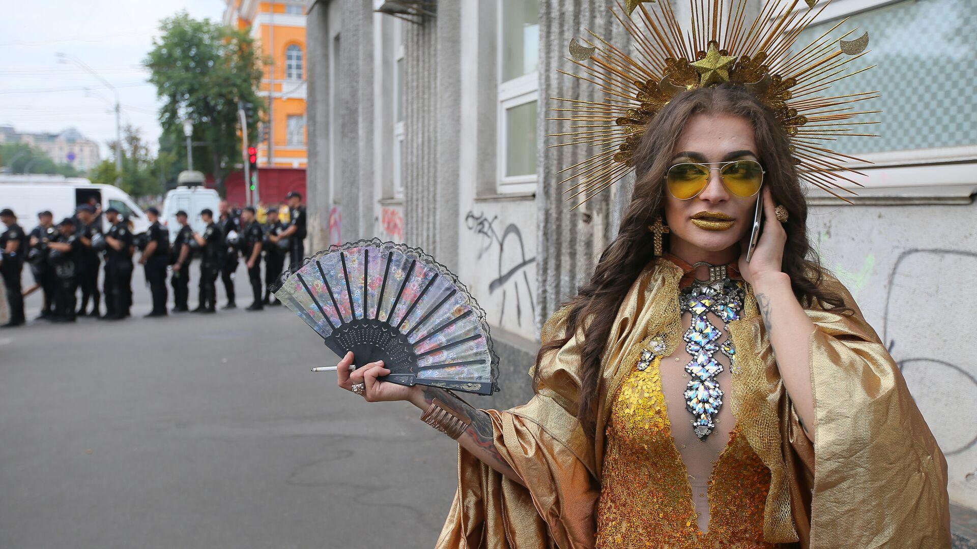 Parada LGBT w Kijowie - Sputnik Polska, 1920, 23.06.2021