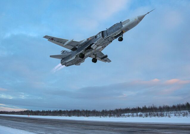 Bombowiec Su-24 pod Murmańskiem