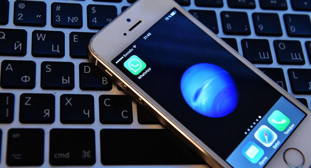 Ikona WhatApp na ekranie telefonu