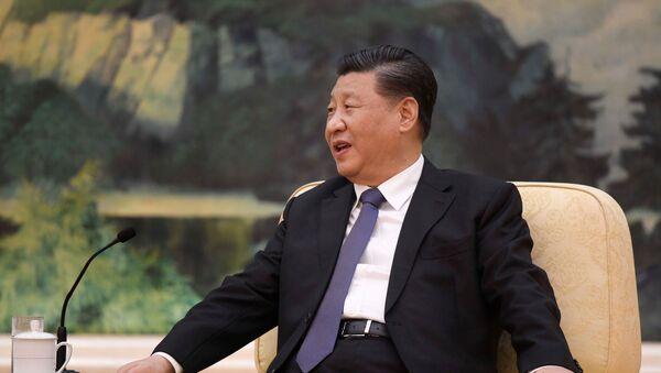 Prezydent Chin Xi Jinping w czasie spotkania w Pekinie - Sputnik Polska