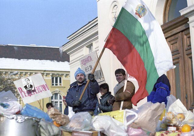 Protesty w Bułgarii
