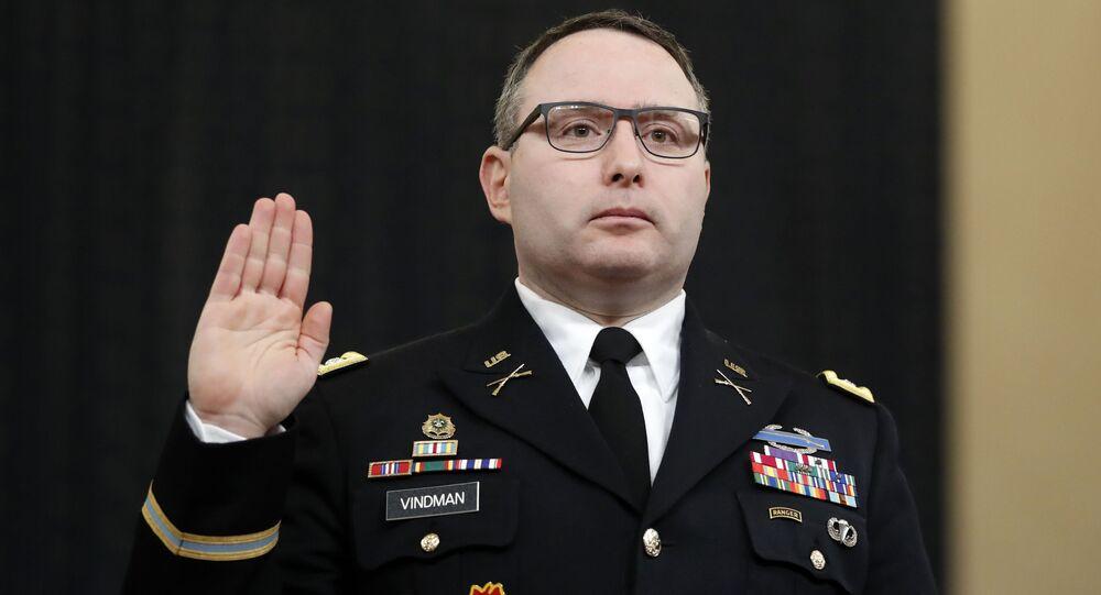 Doradca Rady Bezpieczeństwa Narodowego USA, pułkownik Alexander Vindman