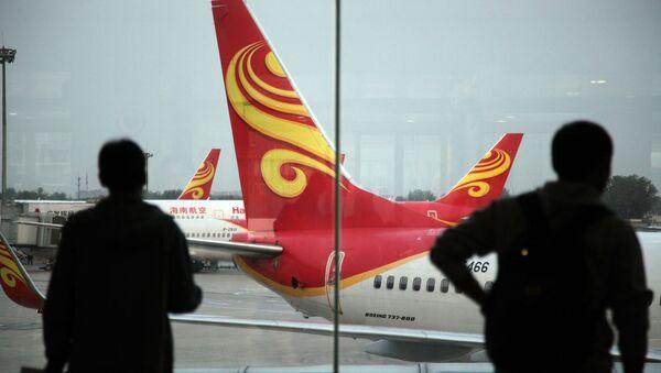 Samoloty chińskiej linii lotniczej Hainan Airlines na lotnisku Haikou, Chiny - Sputnik Polska
