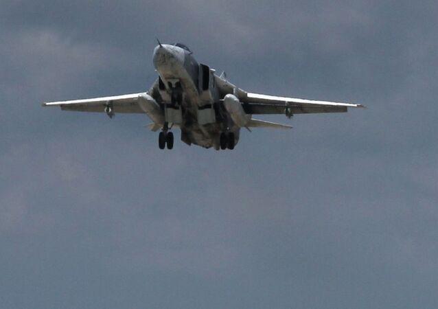 Rosyjski bombowiec Su-24 w Syrii