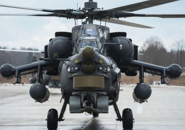 Nocny łowca Mi-28.