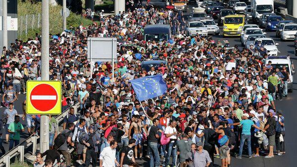 Migranci na Węgrzech - Sputnik Polska