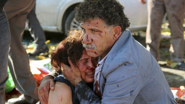 Zamach terrorystyczny w Ankarze - Sputnik Polska