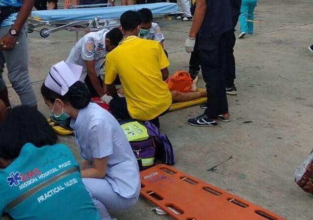 Zderzenie kutrów w Tajlandii
