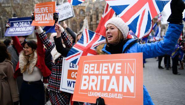 Protesty w Wielkiej Brytanii - Sputnik Polska