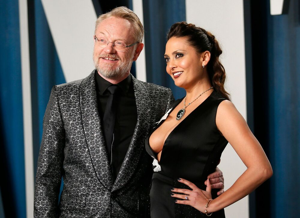 Aktor Jared Harris i Allegra Riggio na Vanity Fair Oscar party