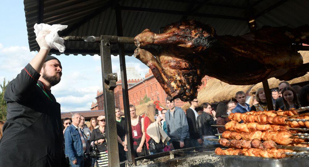 Szaszyk i mięso na Festiwalu Jedzenia