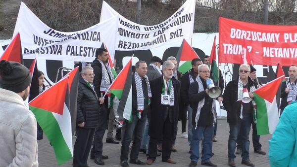 Protesty Palestyńczyków w Warszawie - Sputnik Polska