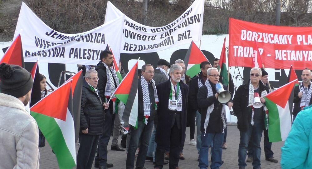 Protesty Palestyńczyków w Warszawie