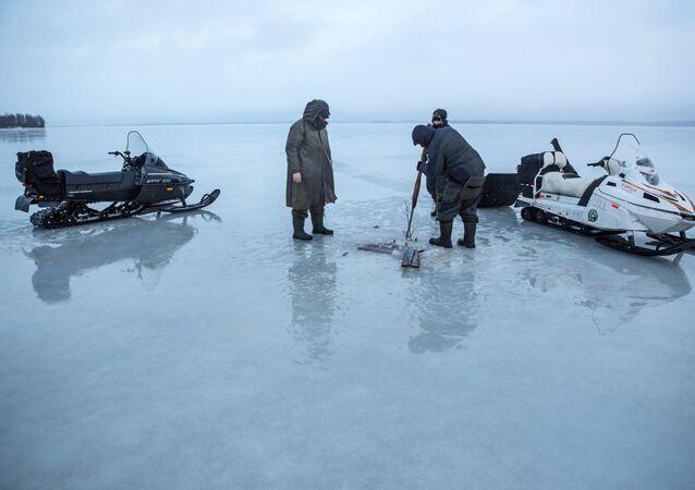 Połów ryb zimą