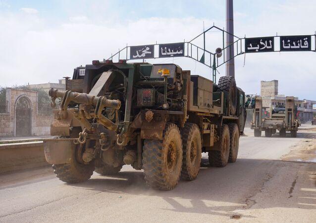 Turecki konwój w syryjskiej prowincji Idlib