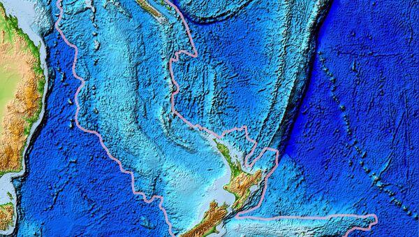 Mapa topograficzna Zelandii, zatopionego kontynentu obejmującego Nową Zelandię - Sputnik Polska