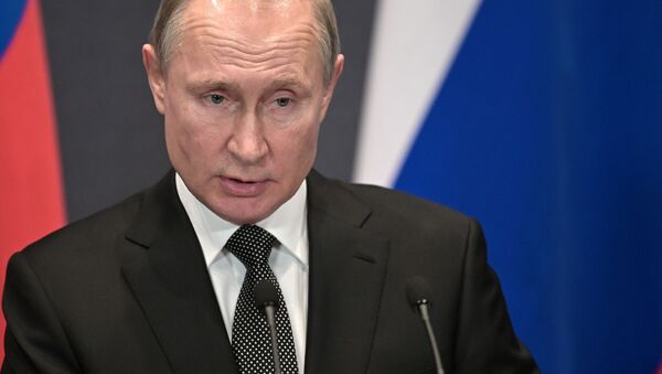 Władimir Putin w czasie podróży w obwodzie lipeckim - Sputnik Polska