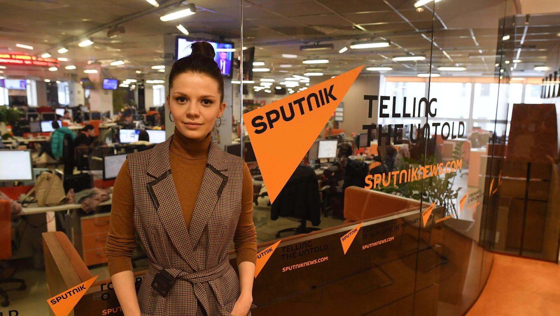 Dyrektor Rosyjsko-polskiego centrum dialogu i porozumienia w Moskwie Aleksandra Gołubowa w siedzibie Sputnika - Sputnik Polska, 1920, 22.06.2021