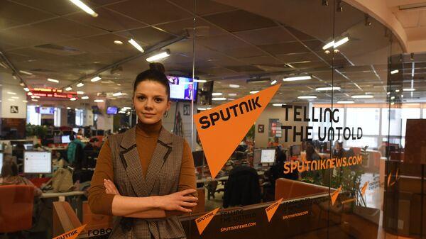 Dyrektor Rosyjsko-polskiego centrum dialogu i porozumienia w Moskwie Aleksandra Gołubowa w siedzibie Sputnika - Sputnik Polska
