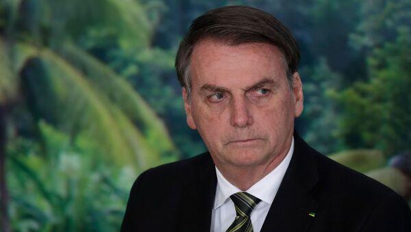 Prezydent Brazylii Jair Bolsonaro w Pałacu Planalto w Brazylii - Sputnik Polska