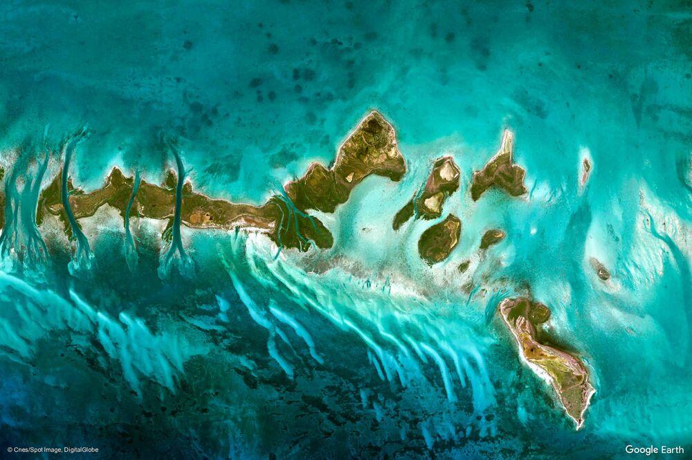 Zdjęcie Kuby z kosmosu.