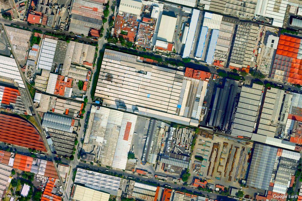 Zdjęcie z kosmosu miasta Meksyk, Meksyk.