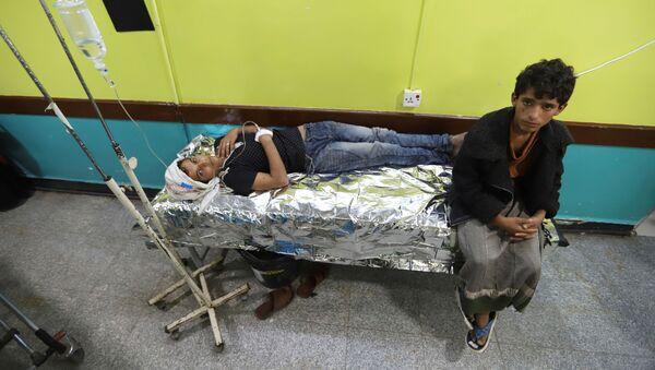 Dzieci w szpitalu w Al-Hudajdzie, Jemen - Sputnik Polska