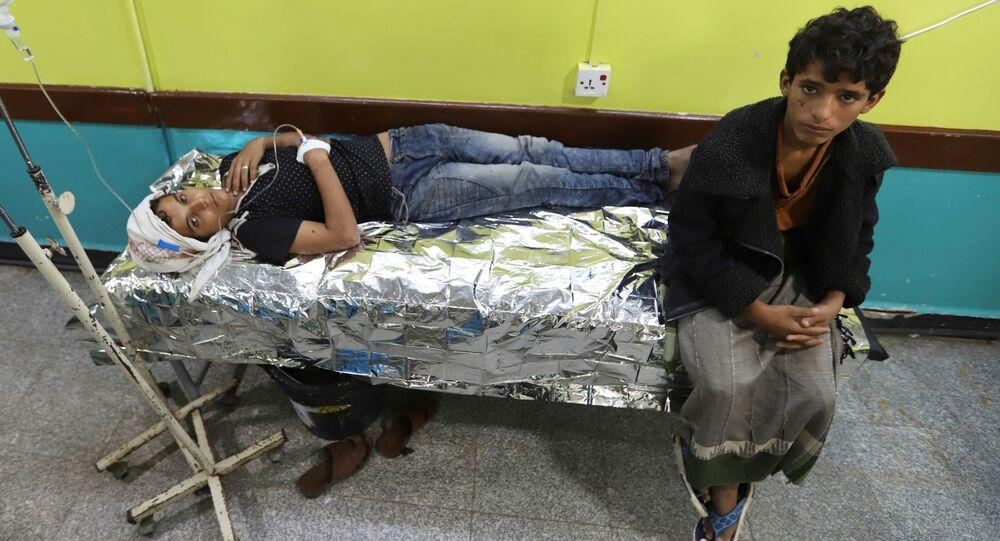 Dzieci w szpitalu w Al-Hudajdzie, Jemen