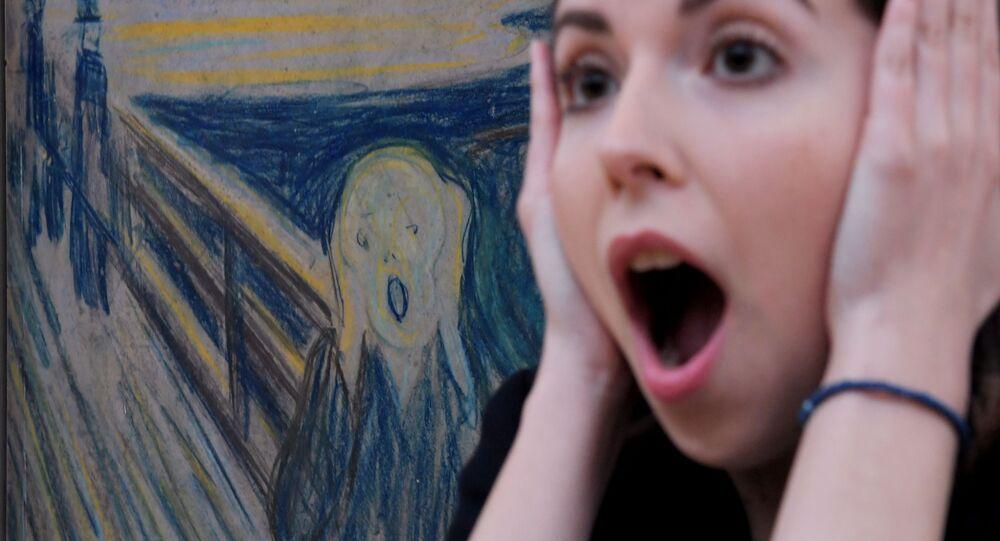 """Obraz """"Krzyk"""" Edvarda Muncha w Galerii Tretiakowskiej"""