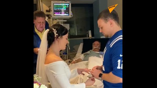 Ślub w sali szpitalnej - Sputnik Polska