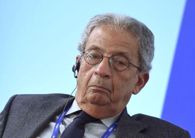 Były sekretarz generalny Ligi Państw Arabskich Amr Musa