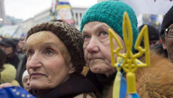 Zwolennicy eurointegracji protestują w Kijowie - Sputnik Polska