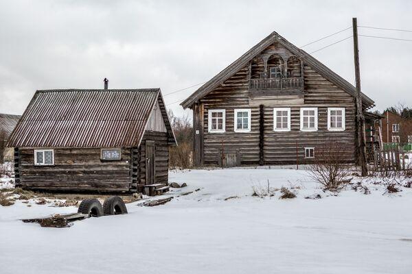 Drewniane domy w Karelii - Sputnik Polska