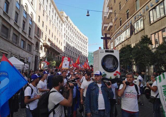 Protesty pracowników Whirlpool