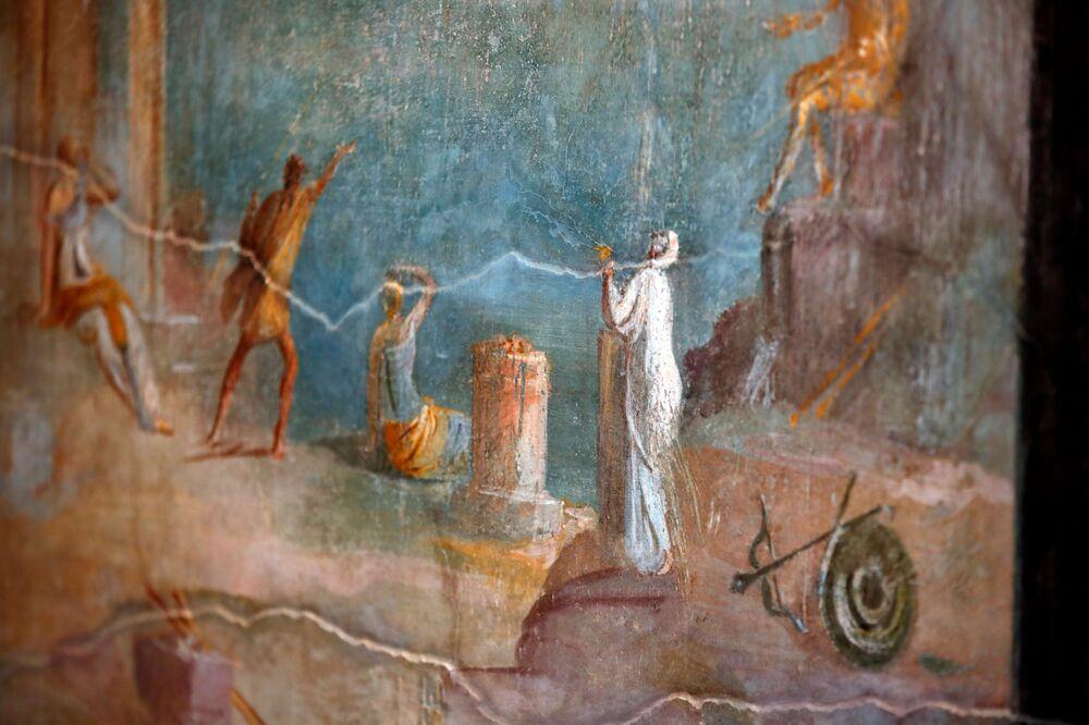 Fresk w Casa del Frutteto w Pompejach