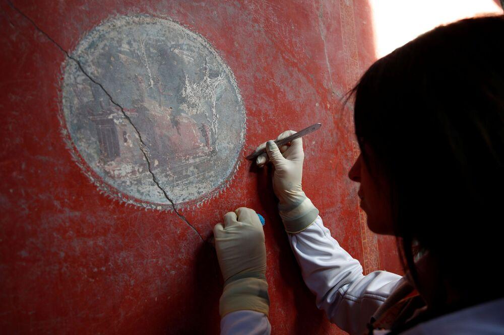 Fresk w Domu Kochanków w Pompejach