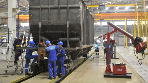 Zakłady produkcji wagonów w Tichwinie, Rosja - Sputnik Polska
