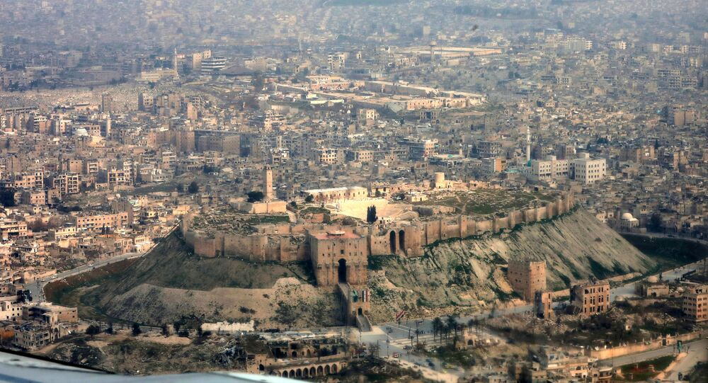 Widok na Aleppo, Syria
