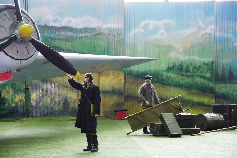 Ekspozycja w Centralnym Muzeum Sił Lotniczych Federacji Rosyjskiej w Monino (obwód moskiewski)