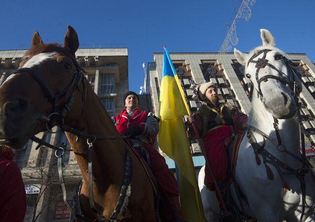 Miting zwolenników Partii regionów w Kijowie