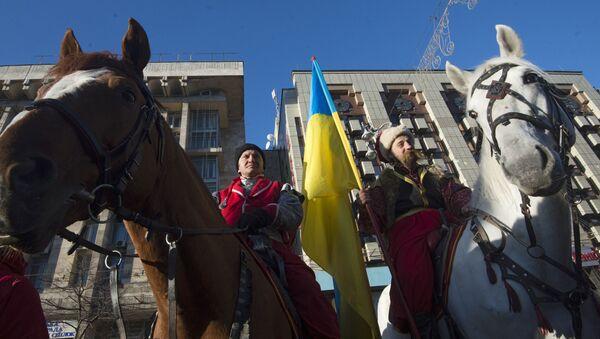 Miting zwolenników Partii regionów w Kijowie  - Sputnik Polska