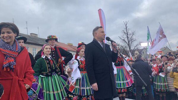 Andrzej Duda w Łowiczu - Sputnik Polska