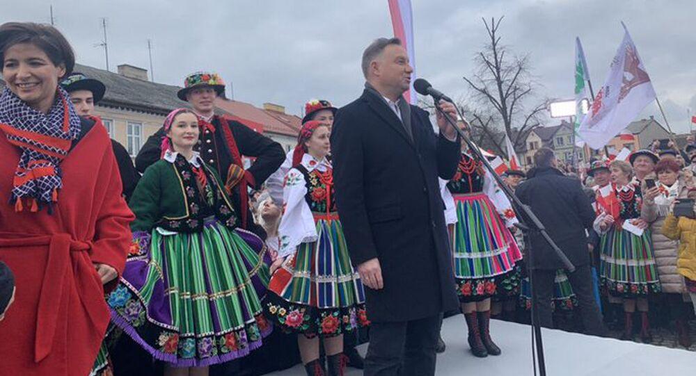 Andrzej Duda w Łowiczu